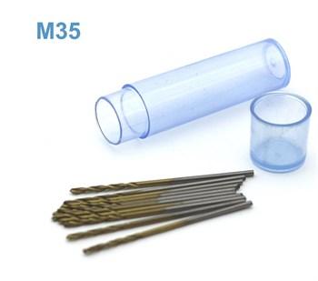 Мини-сверло, HSS M35, титановое покрытие, d 1,0 мм, 10 шт.