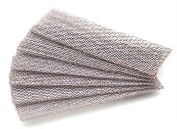 Набор шлифовальной сетки на липучке, P80, P100, P120, 30x90 мм, 6 шт.