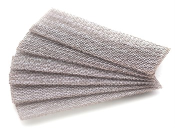 Набор шлифовальной сетки на липучке, P150, P180, P240, 30x90 мм, 6 шт.