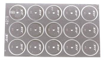 Диск для ревитера d 15 мм, шаг 0,5 мм, 15 шт.