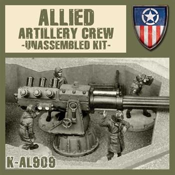 Allied Artillery Crew Set 1 (не собран не окрашен)