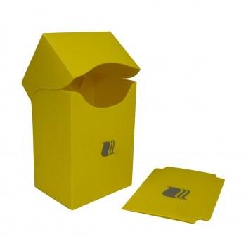 Пластиковая коробочка Blackfire вертикальная - Жёлтая (80+ карт)