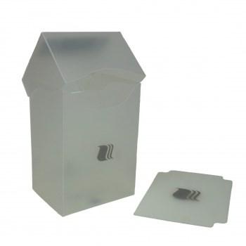 Пластиковая коробочка Blackfire вертикальная - Прозрачная (80+ карт)