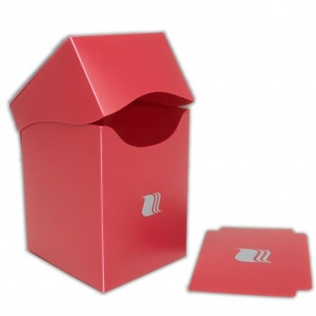 Пластиковая коробочка Blackfire вертикальная - Красная (100+ карт)