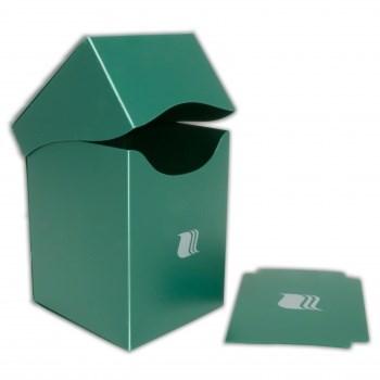 Пластиковая коробочка Blackfire вертикальная - Зелёная (100+ карт)