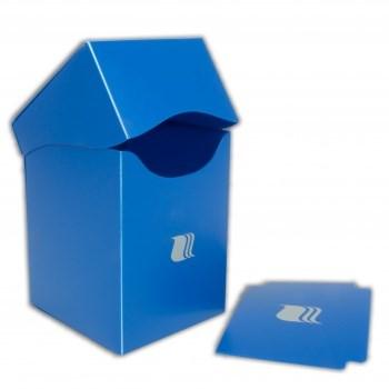 Пластиковая коробочка Blackfire вертикальная - Синяя (100+ карт)