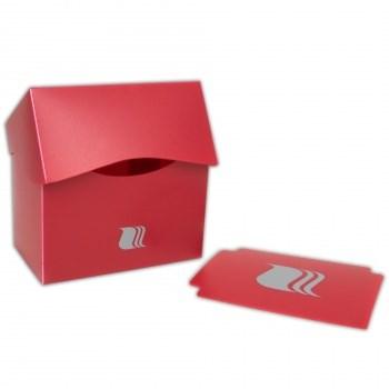Пластиковая коробочка Blackfire горизонтальная - Красная (80+ карт)