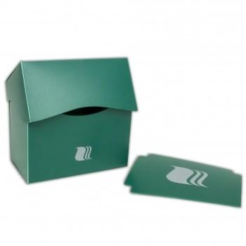 Пластиковая коробочка Blackfire горизонтальная - Зелёная (80+ карт)