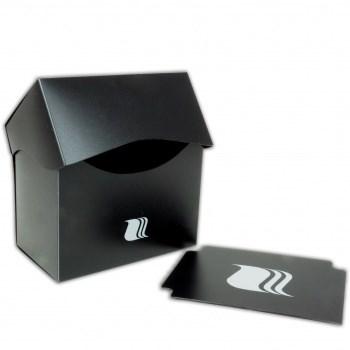 Пластиковая коробочка Blackfire горизонтальная - Чёрная (80+ карт)