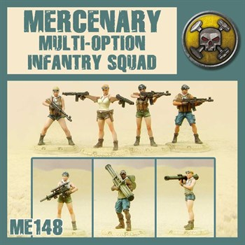 MERCENARY MULTI-OPTION INFANTRY SQUAD (не собран не окрашен) MODEL KIT