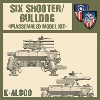 SIX SHOOTER/BULLDOG M5 HEAVY WALKER (не собран не окрашен) MODEL KIT