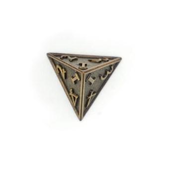 Кубик металлический Clockwork Bronze D4