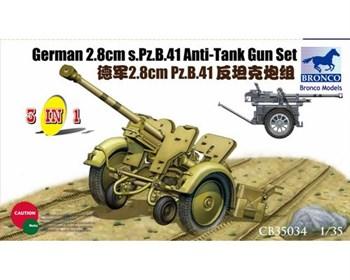 German 2.8cm S.Pz.B.41 Anti-Tank Gun Set (1:35)
