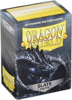 Dragon Shield - Грифельно-чёрные матовые протекторы 100 ук