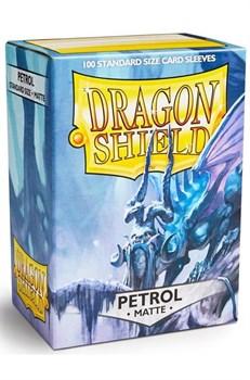 Dragon Shield - Серовато-синие матовые протекторы 100 ук
