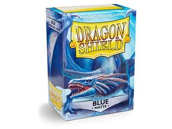 Dragon Shield - Синие матовые протекторы 100 ук