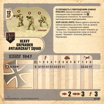 Карточка Heavy Grenadier Antiaircraft Squad