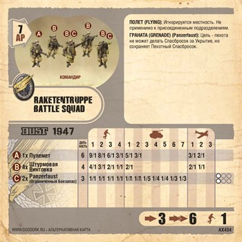 Карточка Raketentruppe Battle Squad