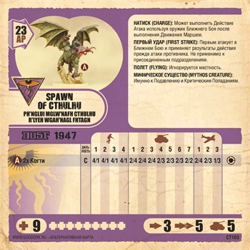 Карточка Spawn Of Cthulhu (2 Карточки)