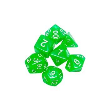Набор кубиков STUFF PRO для ролевых игр. Аврора Нефрит