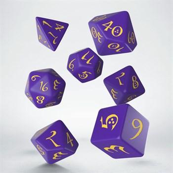 """Набор кубиков """"Классика"""", 7шт., Purple/Yellow"""