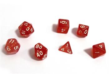 Набор кубиков STUFF PRO для ролевых игр. Аврора Янтарь
