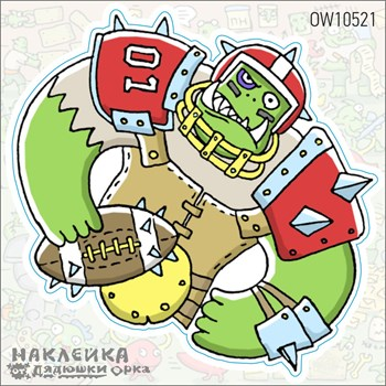Наклейка Ork's Workshop Кровавый Футбол фирменная