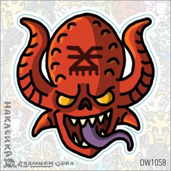 Наклейка Ork's Workshop Демоны Кхорна фирменная
