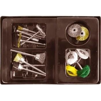 Корщетки/шарошки 17шт.,набор в чемодане