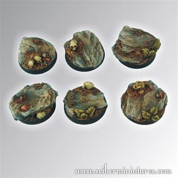 Rocky 25 mm round bases
