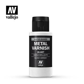 (!) Gloss Metal Varnish 60ml.