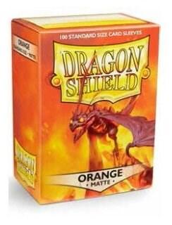 Dragon Shield - Оранжевые матовые протекторы 100 ук