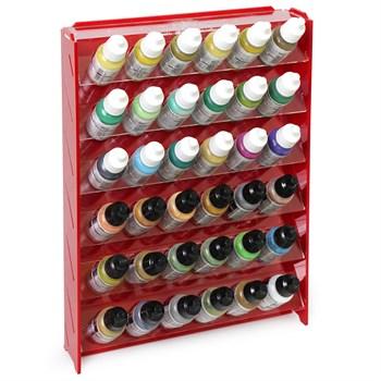 Подставка пластиковая красная для красок 36 баночек Mk-1 (Vallejo)