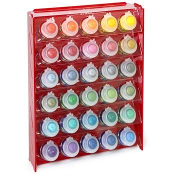 Подставка пластиковая красная для красок 30 баночек Mk-1 (Citadel)