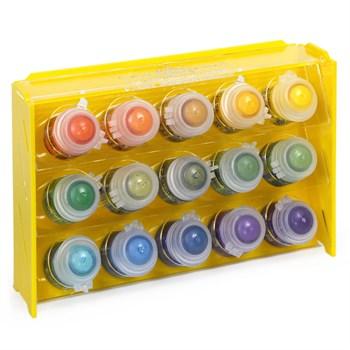 Подставка пластиковая жёлтая для красок 15 баночек Mk-1 (Citadel)