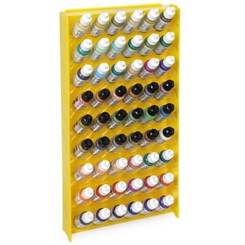 Подставка пластиковая жёлтая для красок 54 баночек Mk-1 (Vallejo)