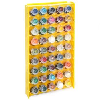 Подставка пластиковая жёлтая для красок 45 баночек Mk-1(Citadel)
