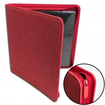 Blackfire 12-Pocket Premium Zip-Album - Red