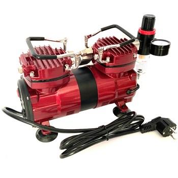 Компрессор JAS 1225, с регулятором давления, автоматика, два режима работы, два цилиндра