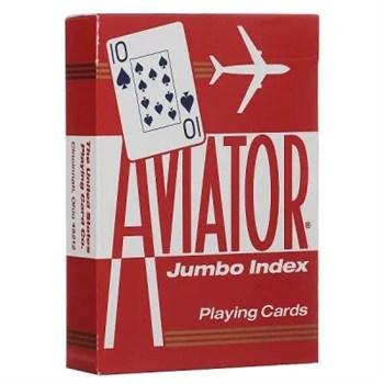 Игральные карты Aviator Jumbo,  красные 54 листа