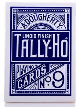 Игральные карты Tally-Ho (Fan back), синие 54 листа