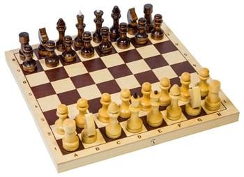 Шахматы обиходные деревянные с дорожной деревянной черной доской, рисунок