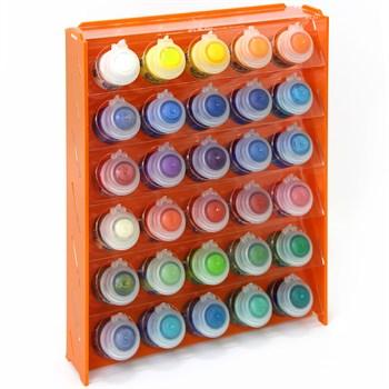 Подставка пластиковая оранжевая для красок 30 баночек Mk-1 (Citadel)