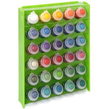 Подставка пластиковая зелёная для красок 30 баночек Mk-1 (Citadel)