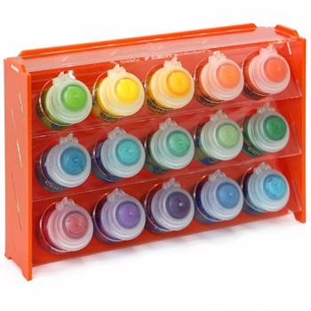 Подставка пластиковая оранжевая для красок 15 баночек Mk-1 (Citadel)