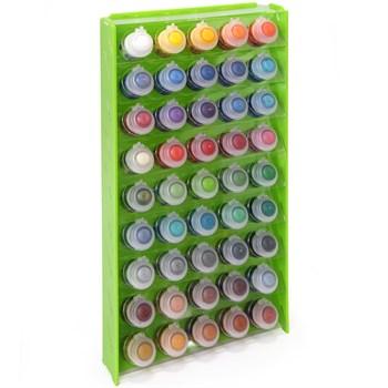 Подставка пластиковая зелёная для красок 45 баночек Mk-1 (Citadel)