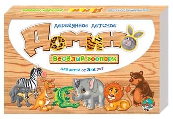 Настольная игра Домино деревянное Веселый зоопарк