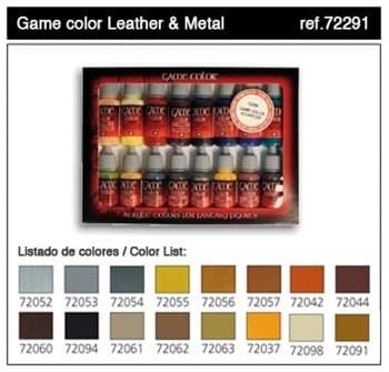 НаборМодельныхКрасокVallejo7229116шт:Leather&Metal