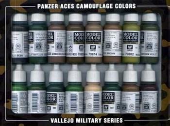 НаборМодельныхКрасокVallejo7017916Шт.:PanzerAcesCamo