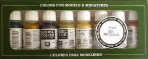 Model Color Metallic Colors (8) 17 ml.